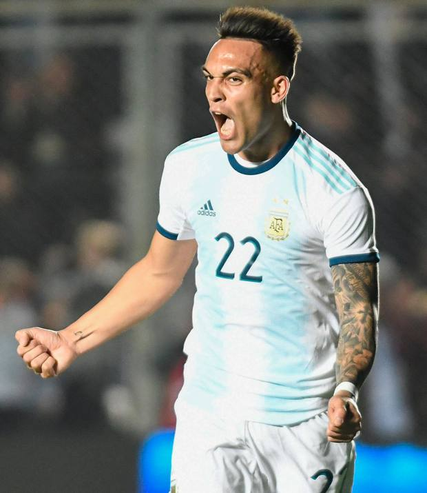 Lautaro Martinez, 21 anni, attaccante dell'Inter. Afp