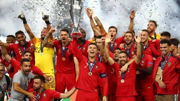 Cristiano Ronaldo alza la prima Nations League. Getty