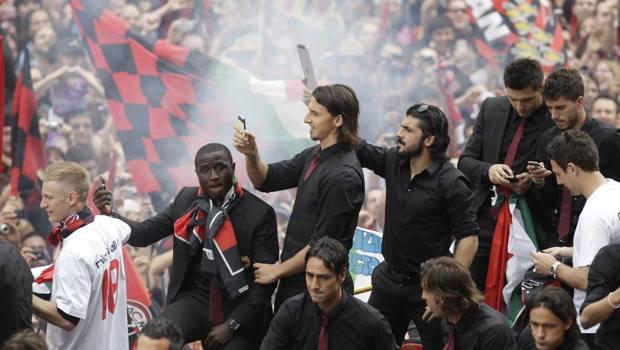 La festa scudetto del Milan