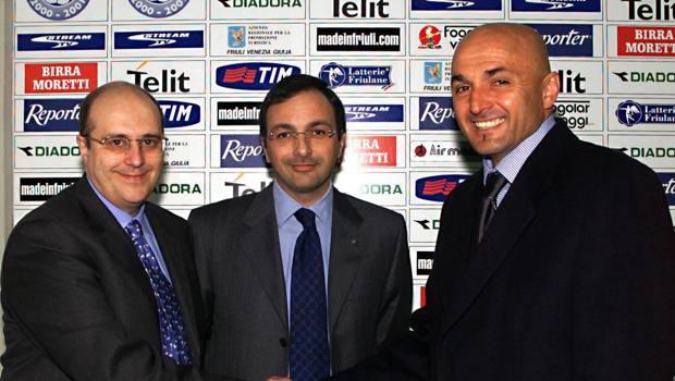Marino, a sinistra, con Spalletti ai tempi di Udine. Era il 2001