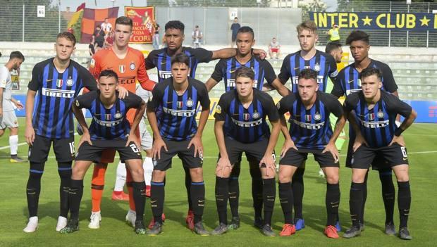 La formazione dell'Inter Primavera nella semifinale con la Roma. LaPresse