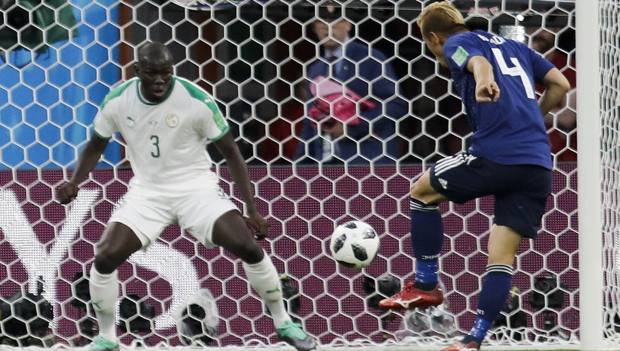Koulibaly in azione col Senegal al Mondiale 2018