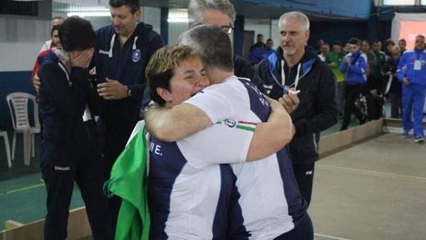 La gioia di Elisa Luccarini e Gianluca Formicone dopo il doppio trionfo ai Mondiali