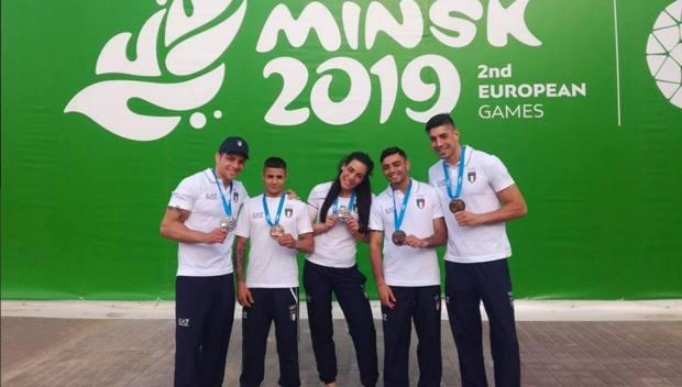 Assunta Canfora (kg 69), Salvatore Cavallaro (75), Federico Serra (49), Manuel Cappai (52) e Simone Fiori: i 5 medagliati azzurri