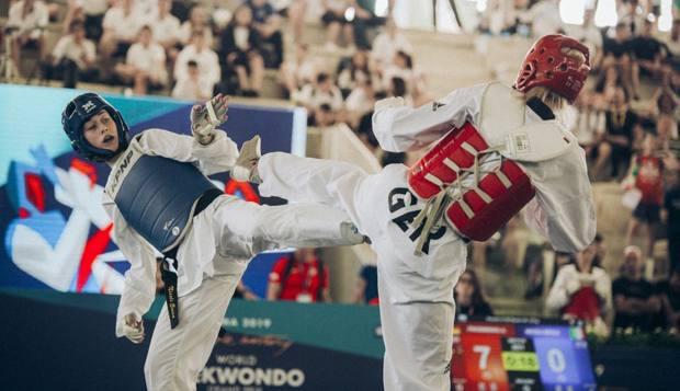 Erica Nicoli in azione al Grand Prix di Roma