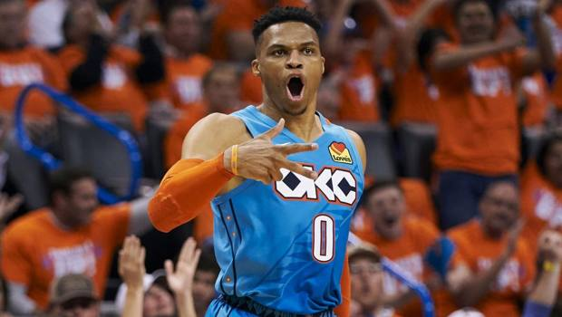 Russell Westbrook, 30 anni, ai Thunder dal 2008. Afp