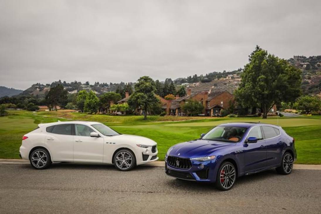 Da sinistra la Maserati Levante Gts e la Trofeo