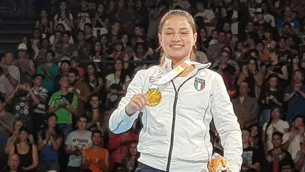 Martina La Piana, grande talento della boxe femminile italiana, in una foto di repertorio