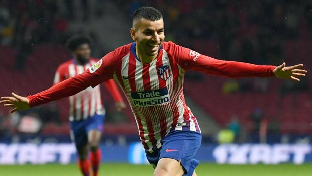 Angel Correa, attaccante argentino dell'Atletico Madrid. Afp