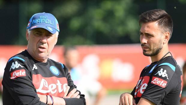 Davide Ancelotti a Dimaro con il figlio Davide