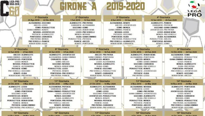 Calendario Champions Juve 2020.Serie C Cerignola Escluso Ecco I Calendari La Juve U23