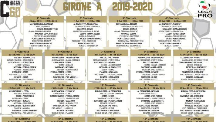 Calendario Appunti 2019.Serie C Cerignola Escluso Ecco I Calendari La Juve U23