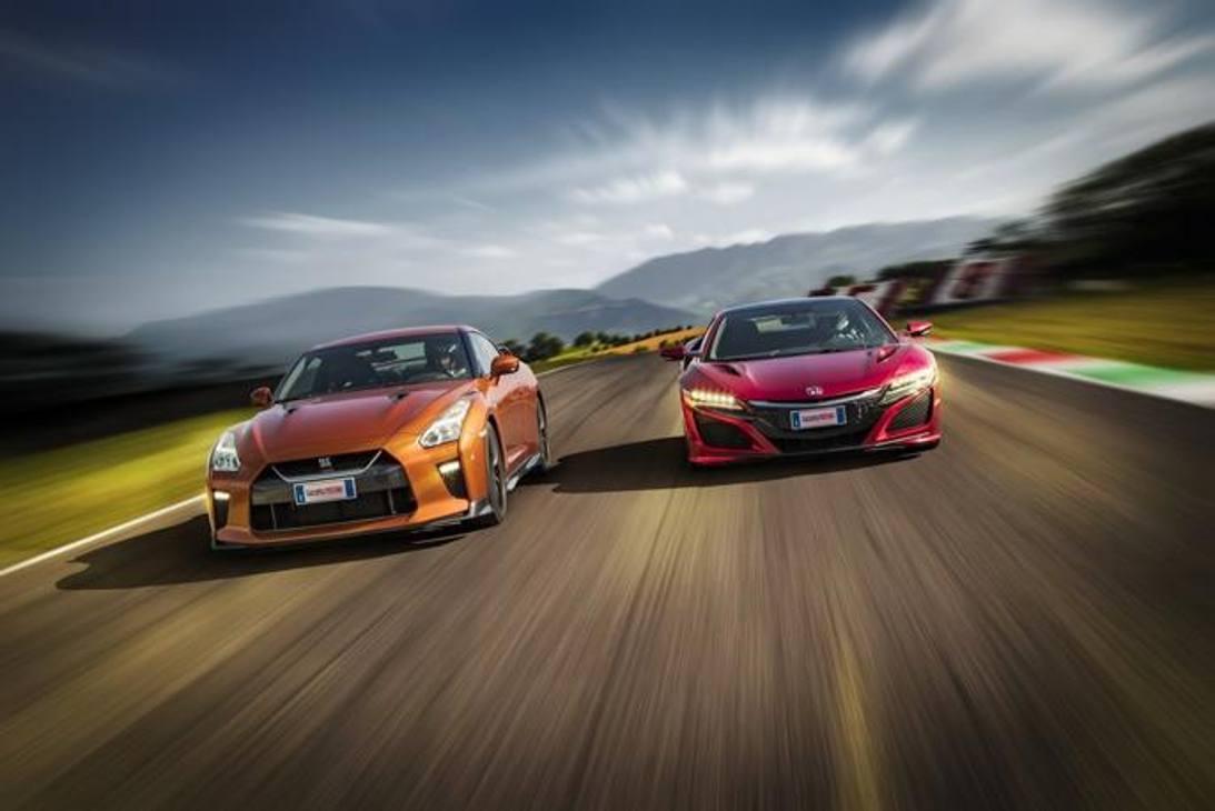 Honda NSX vs Nissan GT-R: la prova in pista al Mugello