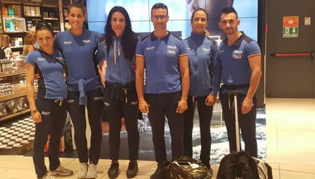 Da sinistra: Fadda, Galizia, Canfora, Caldarella, Mesiano e D'Andrea
