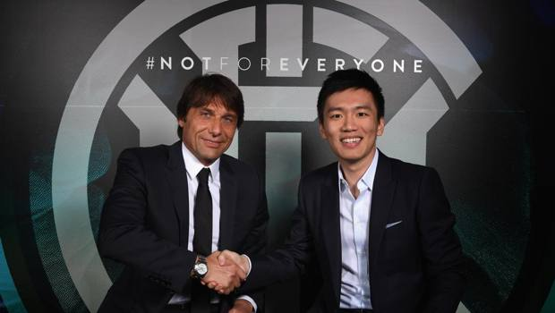 Antonio Conte e Steven Zhang. Getty