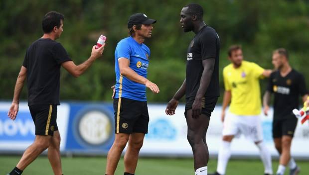 Antonio Conte e Romelu Lukaku. Getty