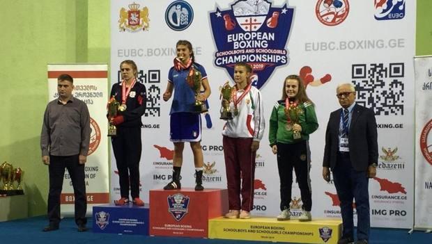 Valentina Marra festeggia la medaglia d'oro