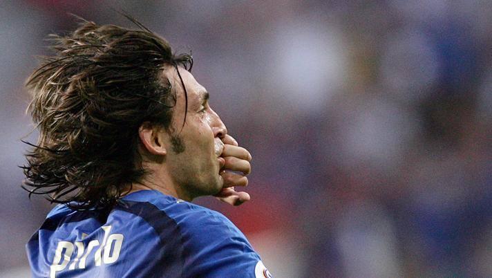 Andrea Pirlo, oggi 40 anni, dopo il gol al Ghana ai Mondiali del 2006. Ansa