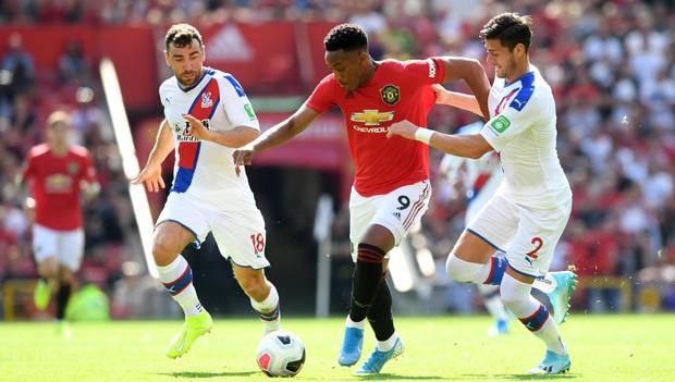 Martial contro il Crystal Palace