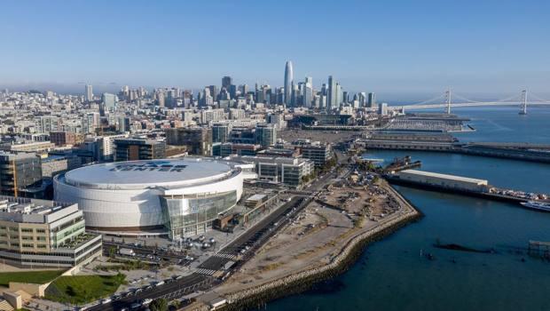 Una veduta del Chase Center, nuova casa dei Warriors a San Francisco. Jason O'Rear/Chase Center