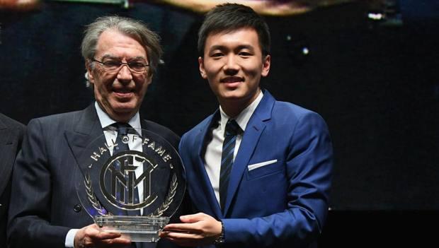 Massimo Moratti con Steven Zhang