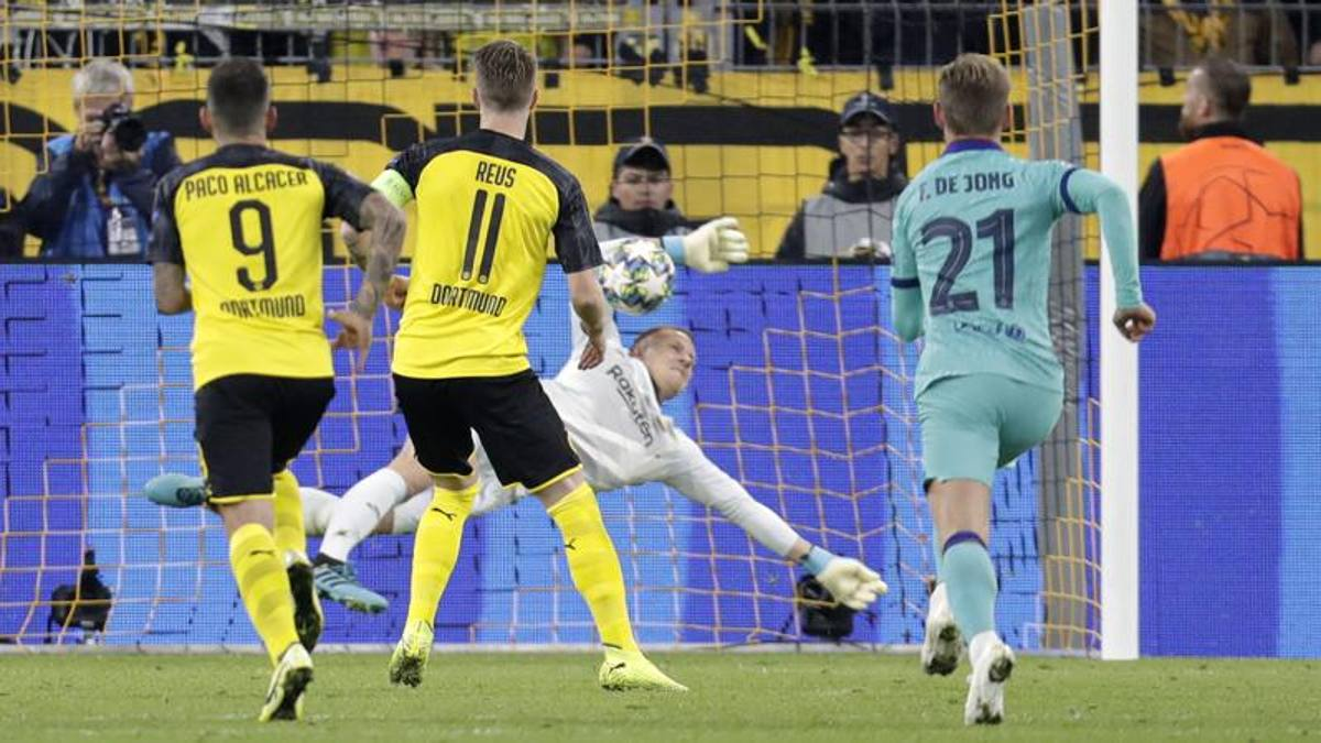 Ter Stegen para un rigore e salva il Barça: 0-0 a Dortmund