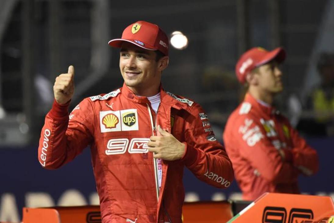 Leclerc felice, per lui terza pole di fila dopo Spa e Monza