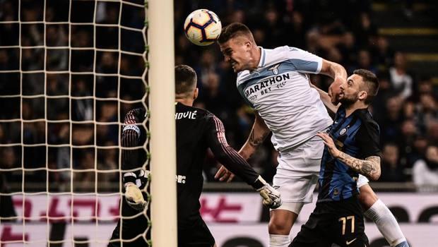 Il gol di Milinkovic nell'ultimo Inter-Lazio