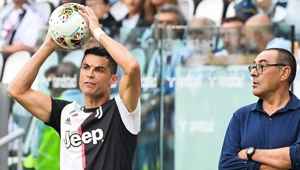 Sarri con Ronaldo