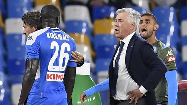 Koulibaly con Ancelotti