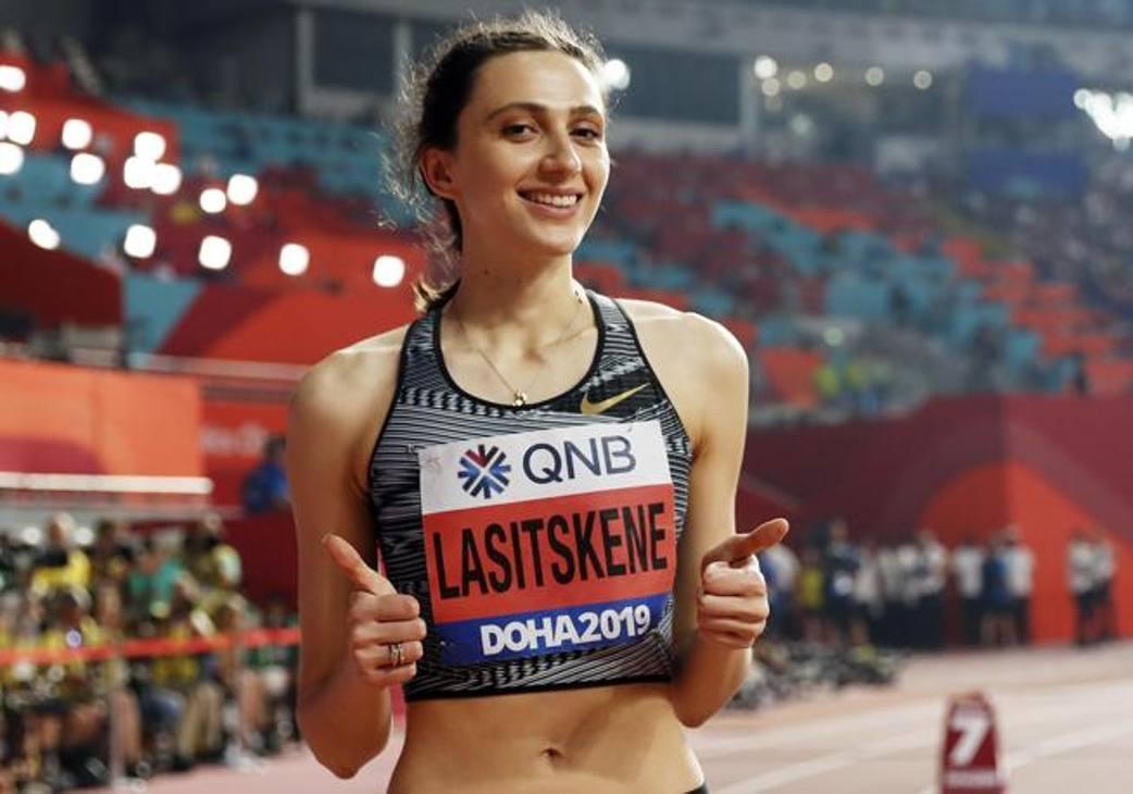 La vincitrice dell'oro dell'alto, la russa Mariya Lasitskene Epa