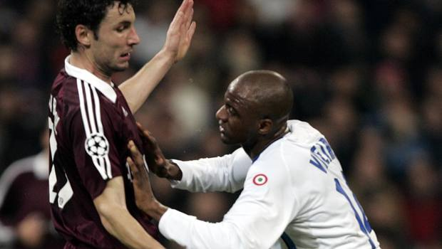 Vieira con Van Bommel in Bayern-Inter 1-1 del 2006