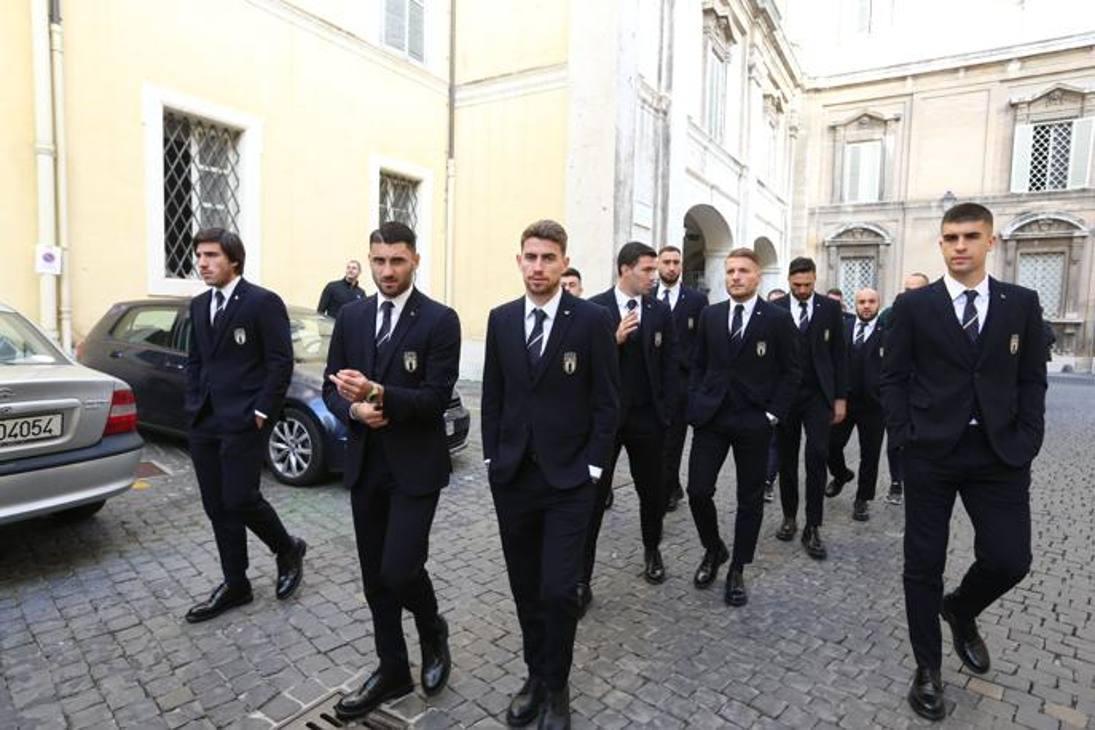 In mattinata, dalle 9.30, udienza privata per la Nazionale in Vaticano per incontrare Papa Francesco. Getty