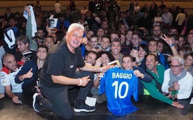 Roberto Baggio sul palco del Festival dello Sport a Trento. Bozzani