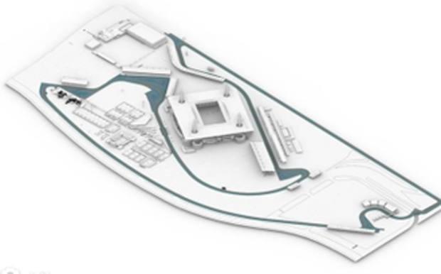 Il circuito disegnato attorno all'Hard Rock Stadium