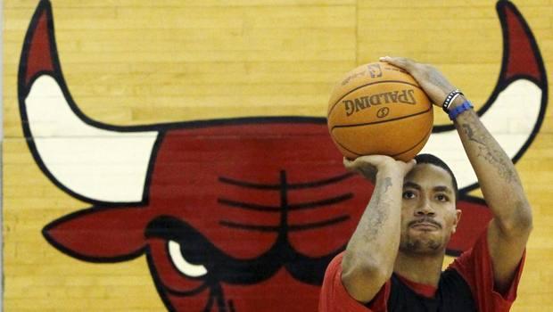 Derrick Rose coi Bulls nel 2011. Ap