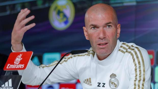 Zidane durante la conferenza