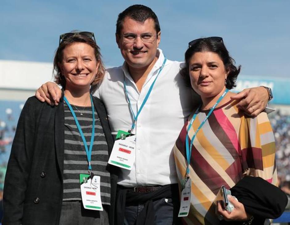 Simona Giorgetta e i due figli di Squinzi, Marco e Veronica