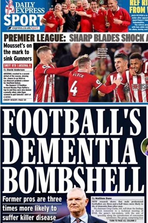 La prima pagina del Daily Express