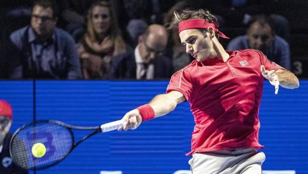 Roger Federer, 38 anni, ha vinto 9 volte il torneo di Basilea. Epa