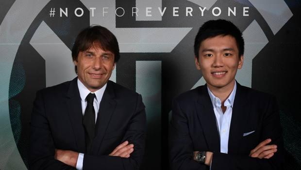 Steven Zhang con Antonio Conte