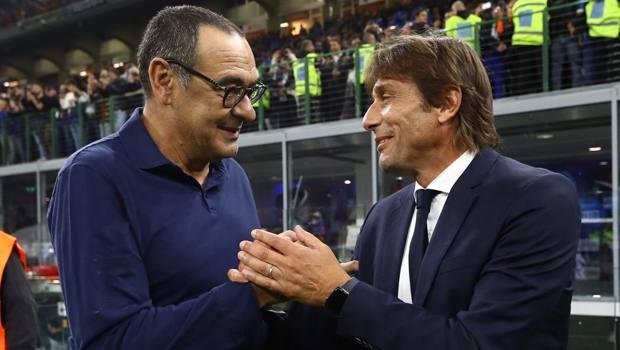 Maurizio Sarri, 60 anni, e Antonio Conte, 50. Getty Images