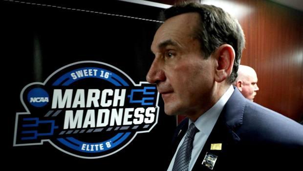 Mike Krzyzewski, 72 anni, è lo storico coach di Duke, di nuovo tra le favorite. Afp