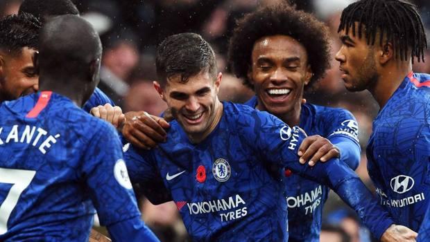 Esulta il Chelsea. Epa