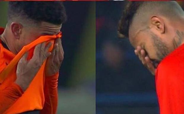 Le lacrime di Taison e Dentinho