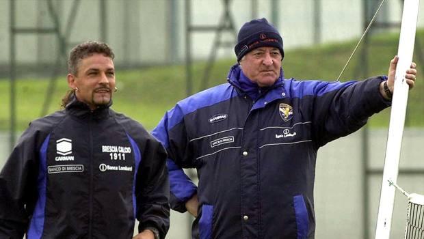Mazzone con Baggio