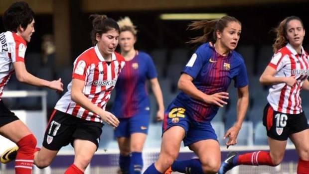 Un match di calcio femminile in Spagna
