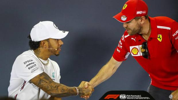 Hamilton con Vettel