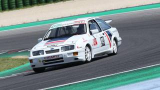 Vallelunga, a bordo della Ford Sierra RS Cosworth