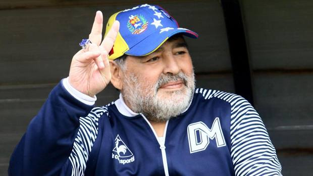 Diego Maradona in una foto recente